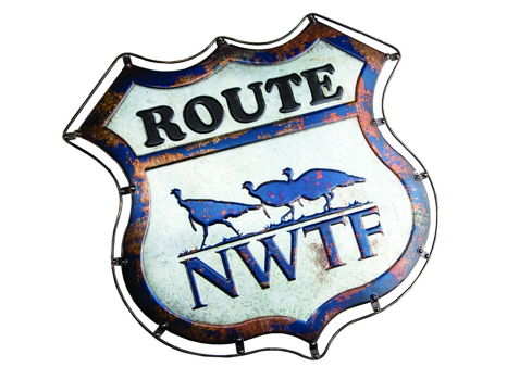 Tin NWTF Route 66 Sign