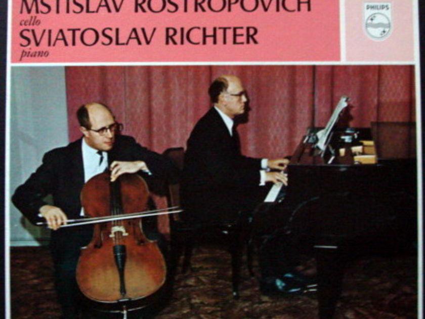 Philips / ROSTROPOVICH-RICHETER, - Beethoven Complete Cello Sonatas, MINT, 2LP Box Set!