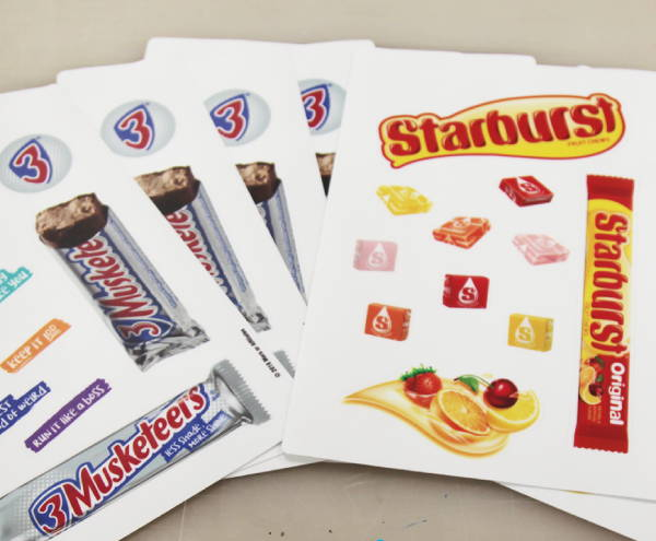 Stickers & Labels - 3 Musketeers and Starburst Stickers