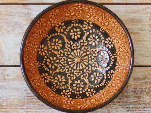Керамическая пиала оранжевая