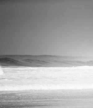 surfer in black and white
