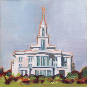 Painting of the of the Payson Temple.