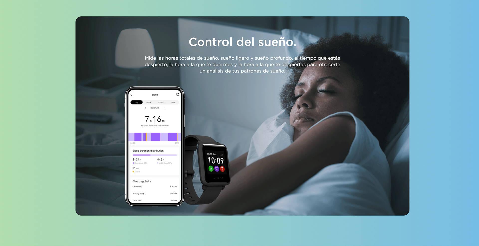 Amazfit ES - Amazfit Bip S Lite - Control del sueño.