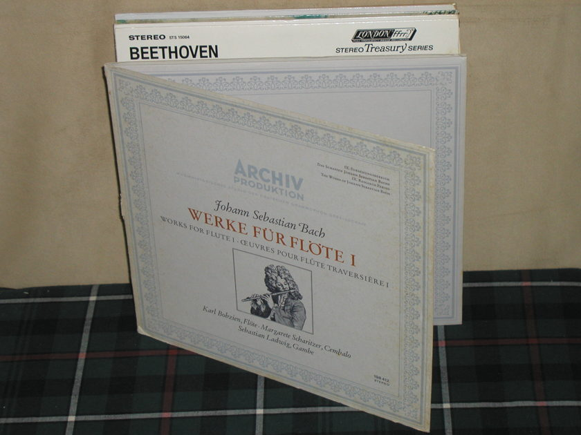 Bobzein/Scharitzer/Ladwig - Bach Works for Flute V.1 Archiv 198 412 TRI Fold 1st Press