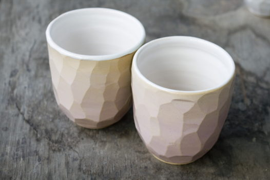 Граненые стаканы Polygons (желто-розовые)