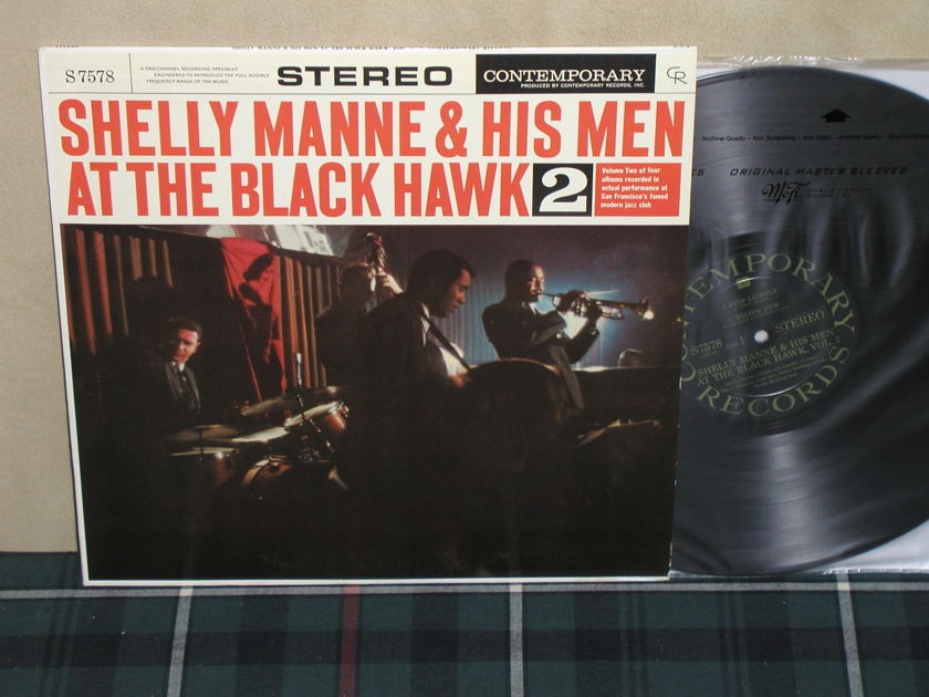 Shelly Manne & His Men - At The Blackhawk 2 Black/Gold Contemporary 1st press