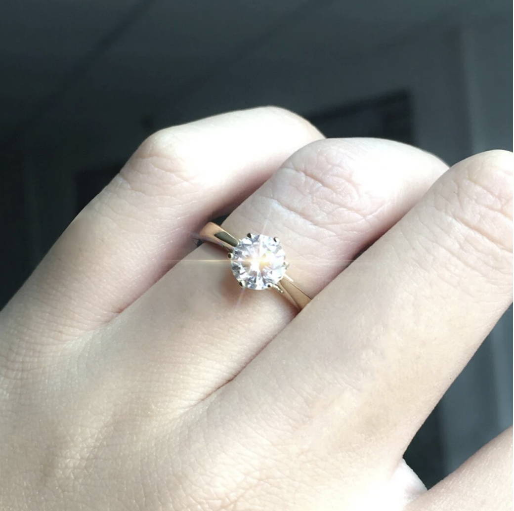 Here are some examples of Moissanite rings with top moissanite shape and cut for the most sparkle