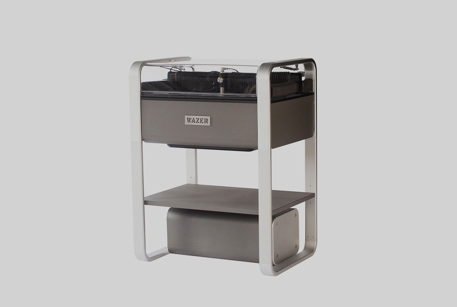<h3>OPTIONAL STAND </h3>Optional shelf and removable legs while maintaining the same footprint.