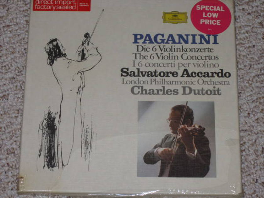 Dgg (Sealed)2740 121 - Paganini 5LP set violin concertos, accardo