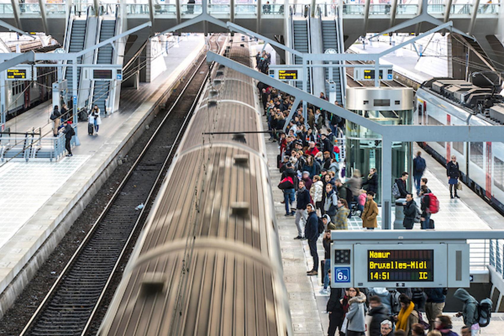 Station Luik, één van de stations, naast onder andere het Duitse Aachen en het Nederlandse Maastricht, in het traject van de Drielandentrein.