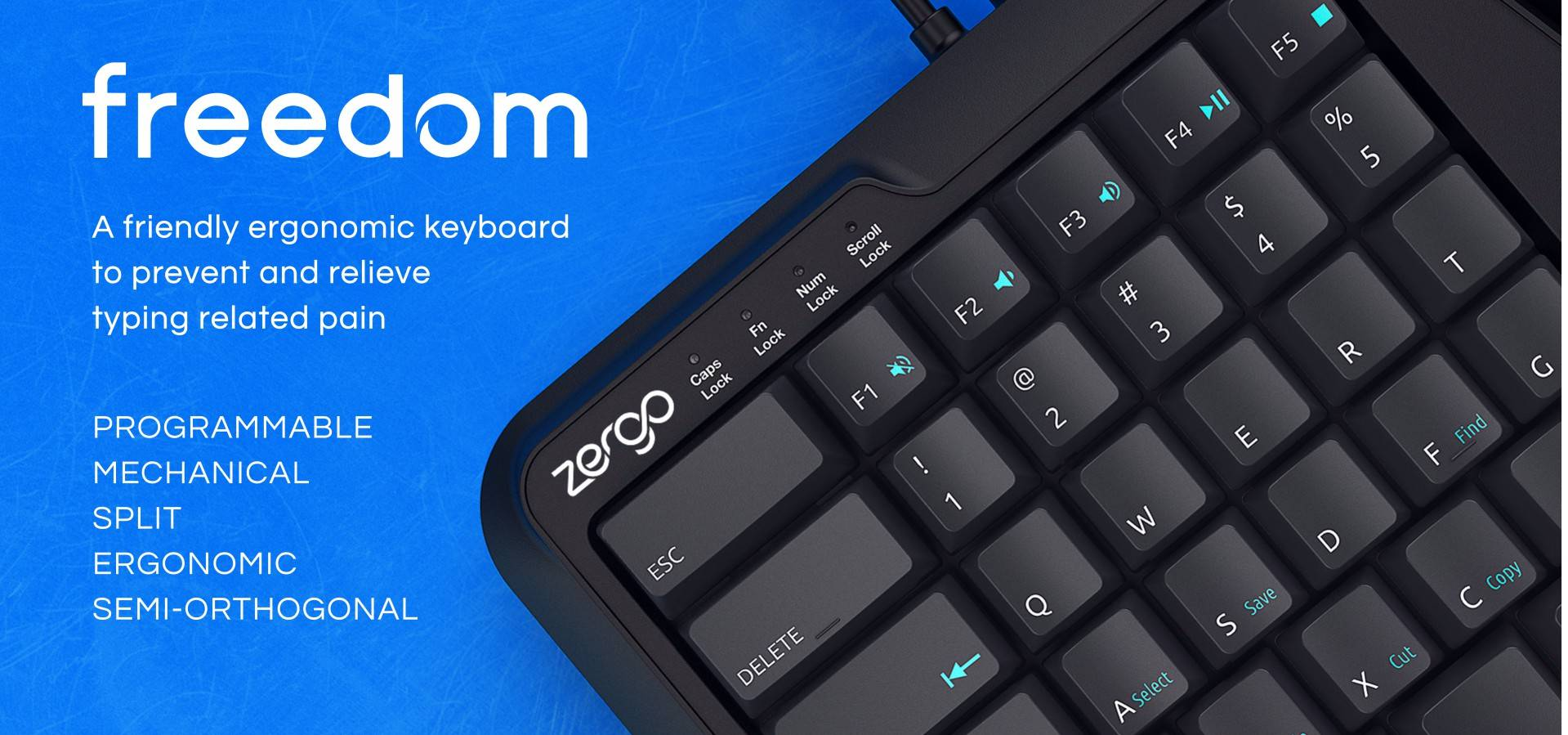 home banner | mechanical keyboard | typing | ergonomic keyboard