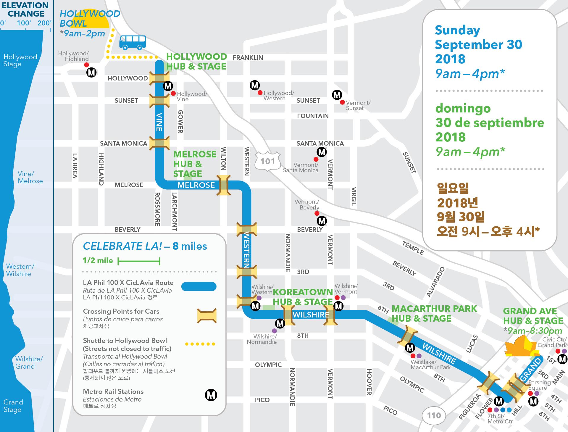 Disney Los Angeles Map.La Phil 100 Celebrate La A Free Festival Concert 9 30