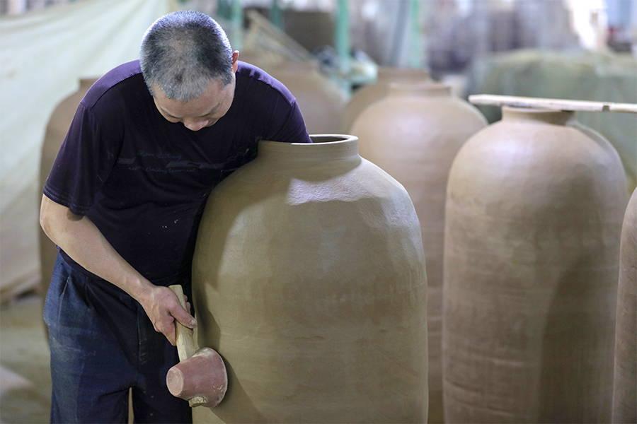 ceramic big floor pots