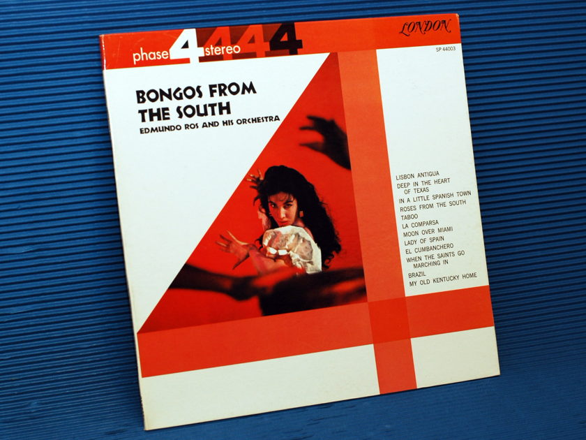 "EDMUNDO ROSS & ORCHESTRA   - ""Bongos From the South"" -  London Phase 4 stereo 1961"