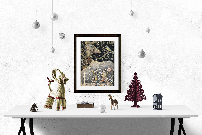 Новогодний принт «Северный олень»
