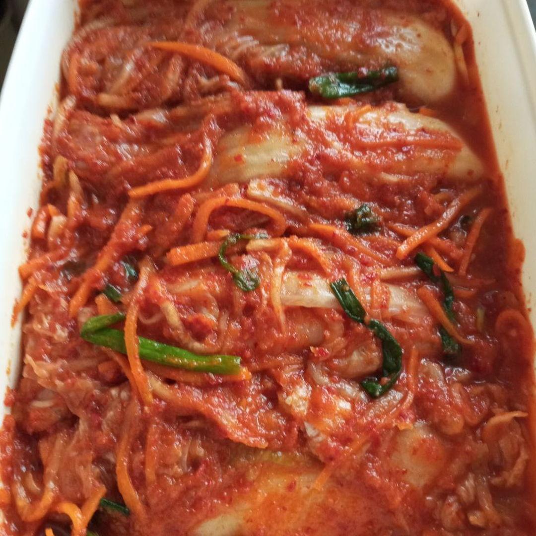 Freshly made kimchi! 😁❤️ Super yummy 😋