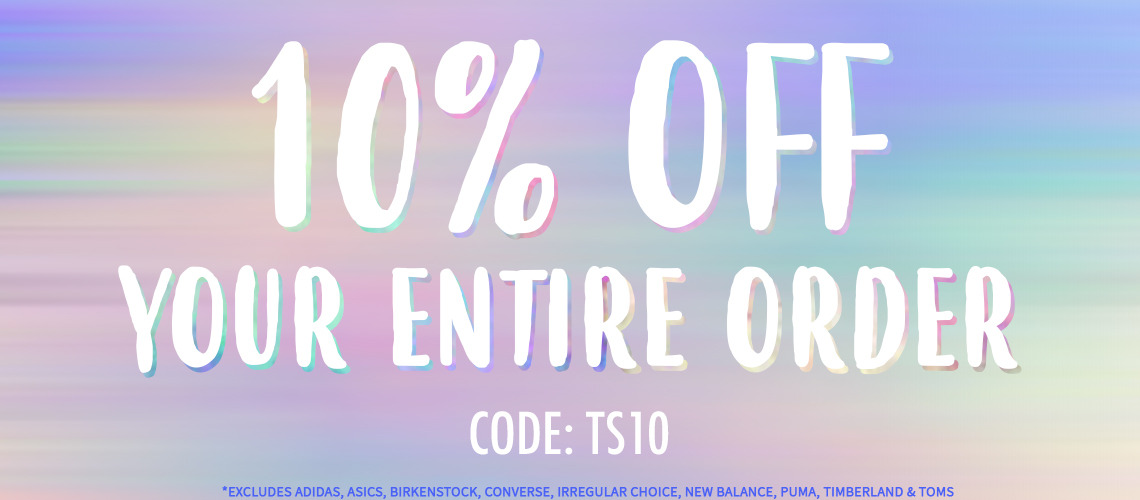 10% off your entire order | Tiltedsole.com