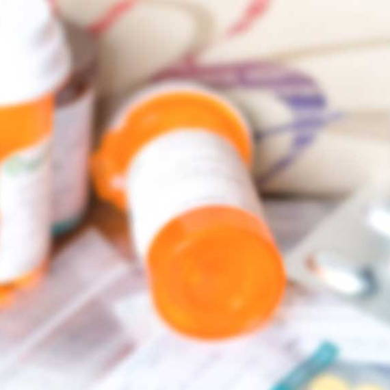 close up prescription bottle