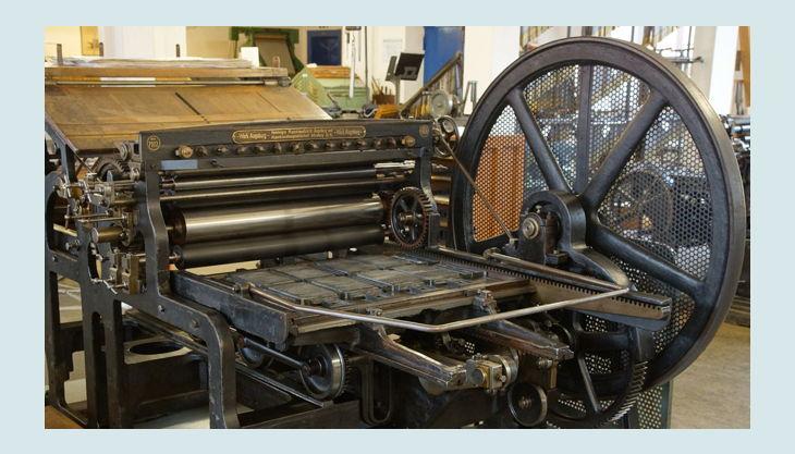 stiftung werkstattmuseum für druckkunst leipzig alte druck maschine groß