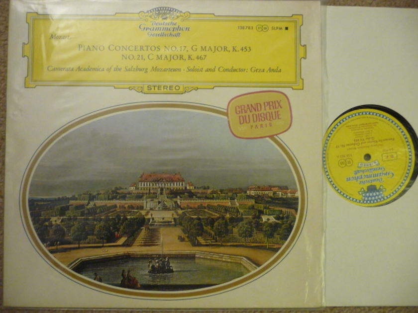 Mozart  - PIANO CONCERTO NO 17 DGG TULIP LP EXCEL