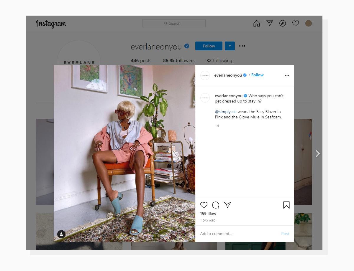 UGC photos in Instagram