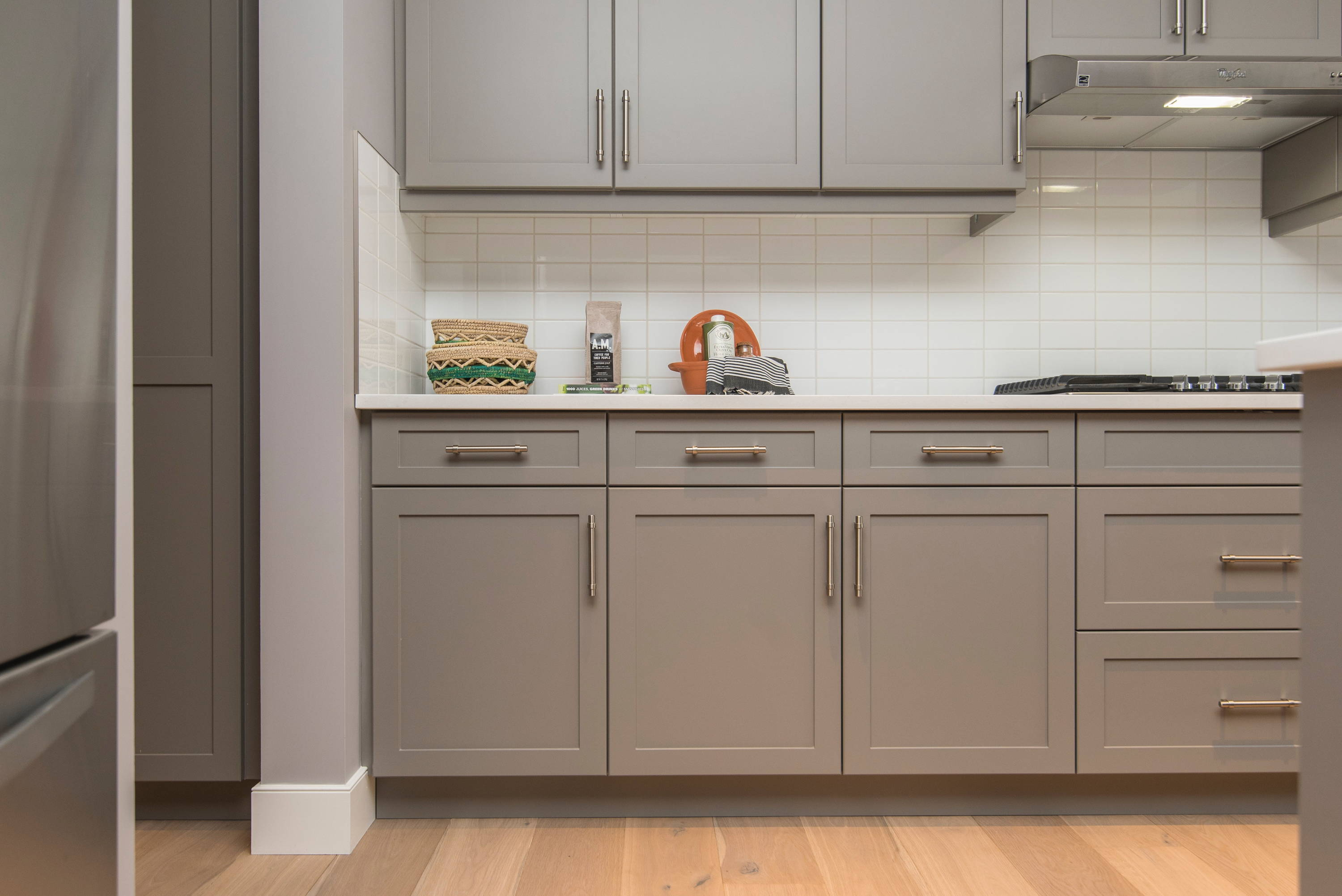 Grey painted kitchen example