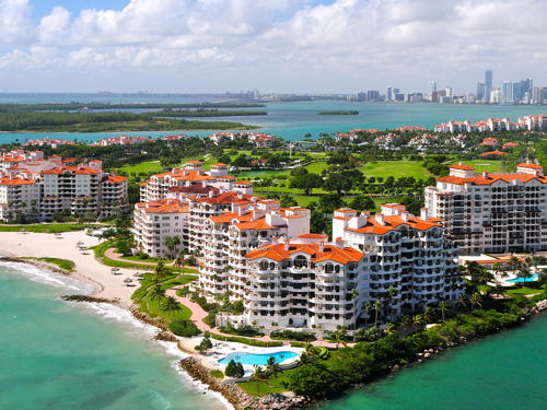skyview of Fisher Island