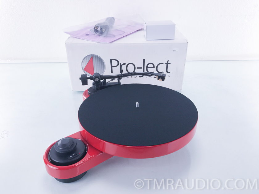 Pro-Ject RPM 1 Carbon Manual Turntable;  Sumiko Pearl Cartridge; Red (2621)