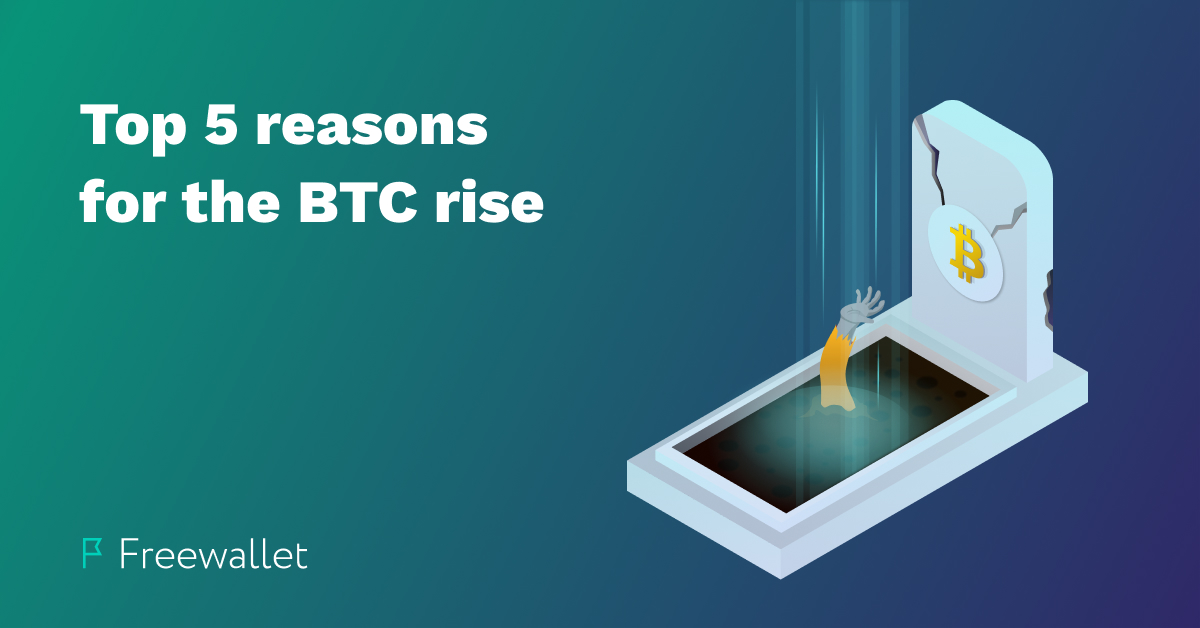 The main reasons for the BTC price pump