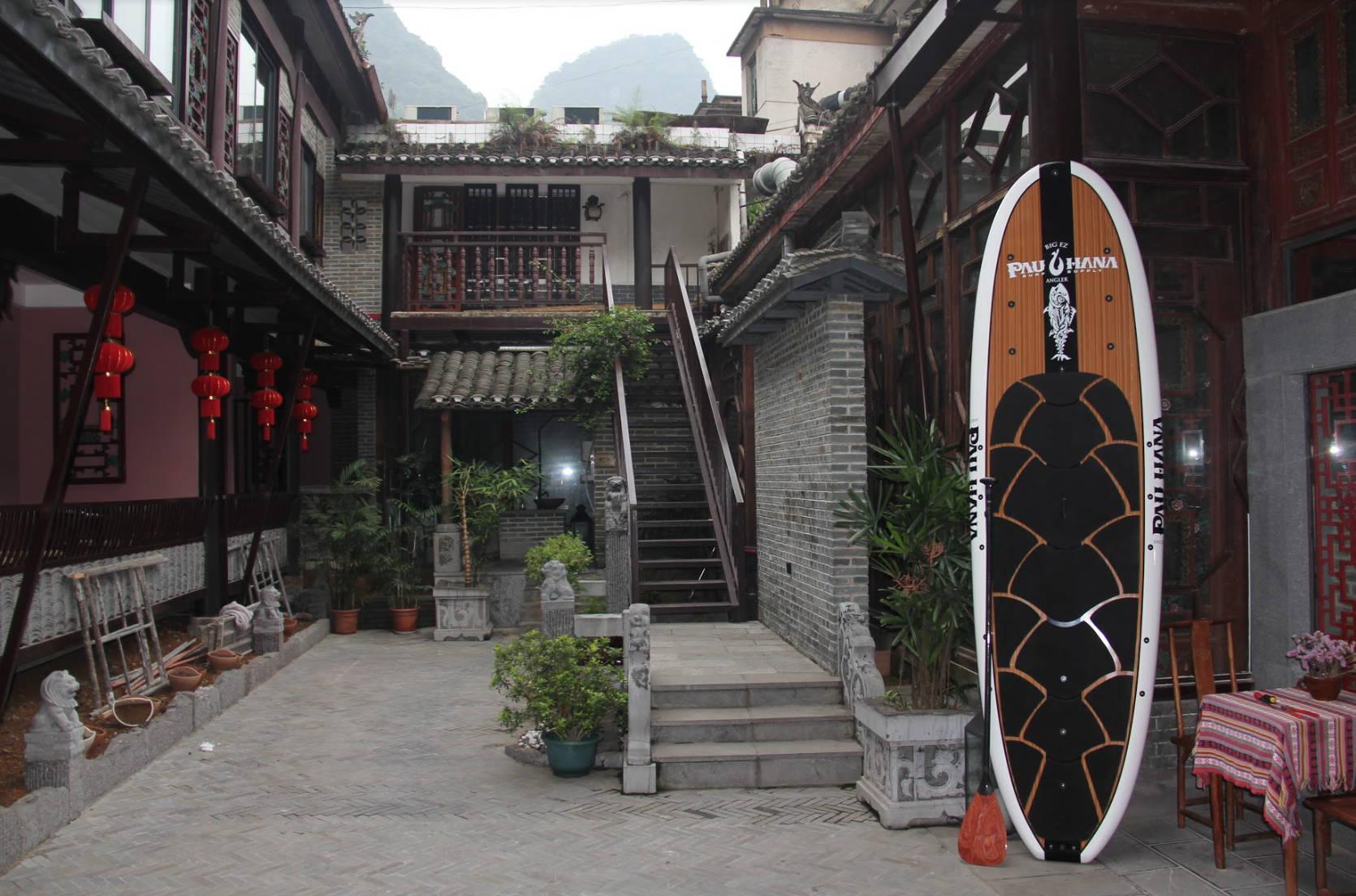 Big EZ angler board by Pau Hana surf supply in Shenzhen China