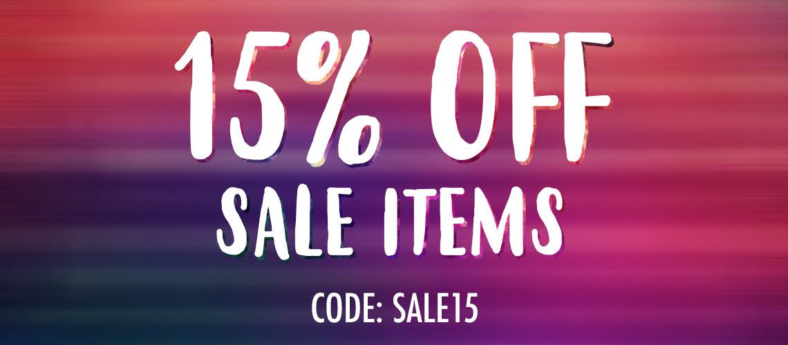 15% off sale items | Tiltedsole.com
