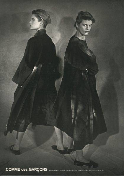 1980, COMME des GARCONS, shot by Peter Lindbergh