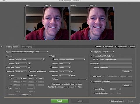 Flash media live encoder: complete adobe flash media live encoder.