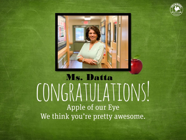 Apple of Our Eye Ms. Datta