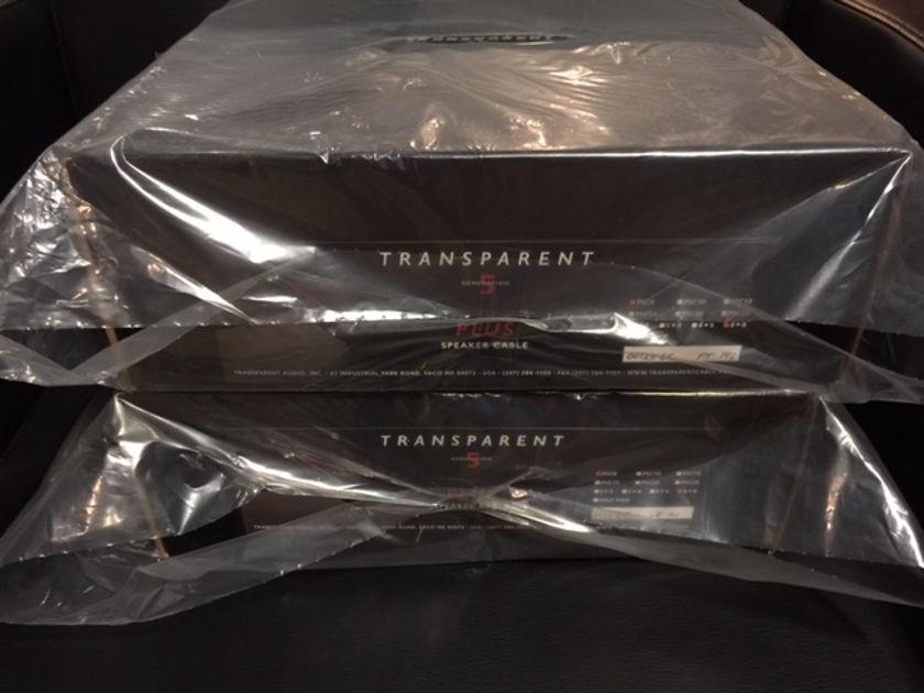 Transparent Audio Plus GEN 5 Banana > Banana  8 ft Speaker cables New