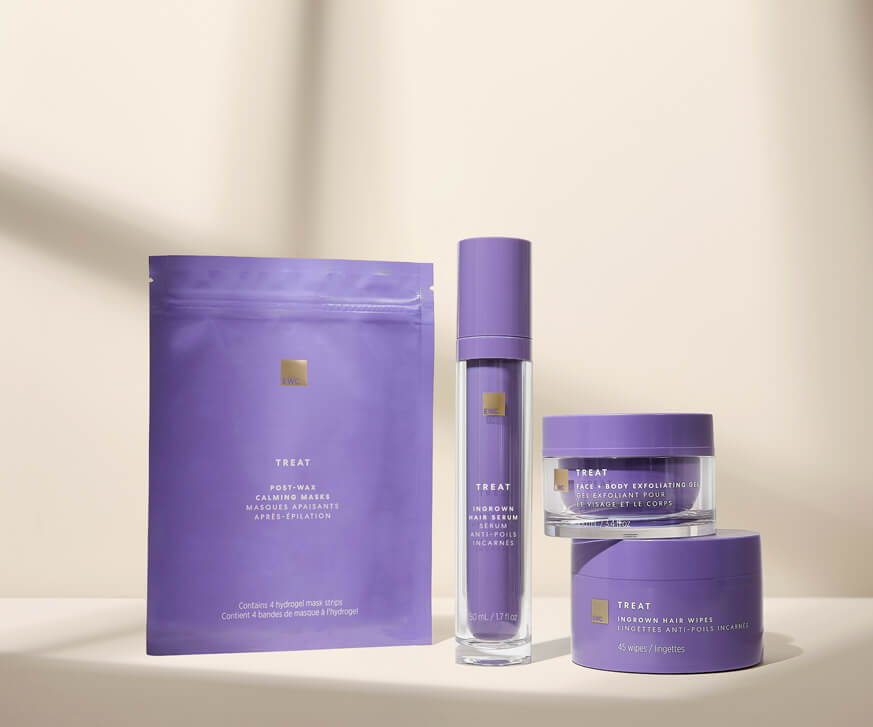 EWC Treat collection line to treat and prevent ingrown hair