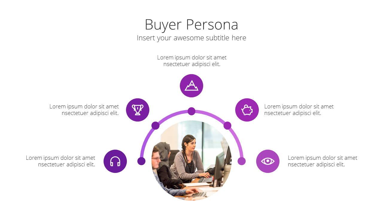 Modern X Digital Marketing Proposal Presentation Template Buyer Persona