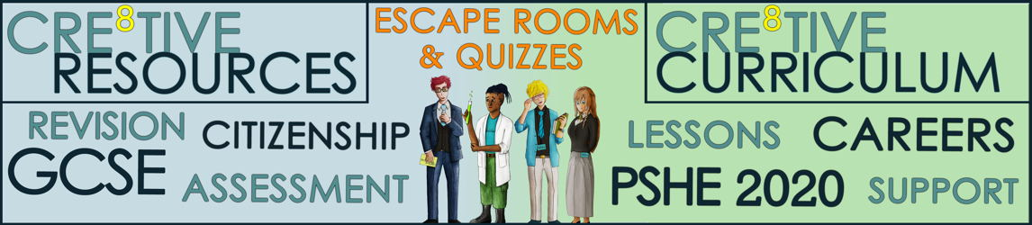 GCSE Citizenship, PSHE - Lessons, Assessments, Escape Rooms