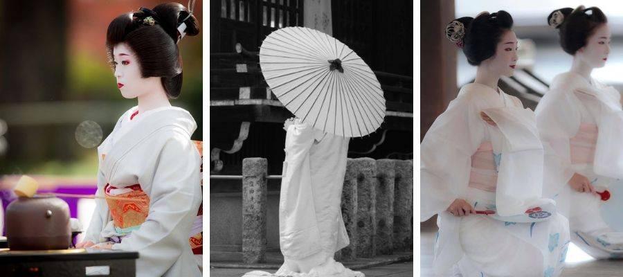 White Ceremonial Kimono Robes