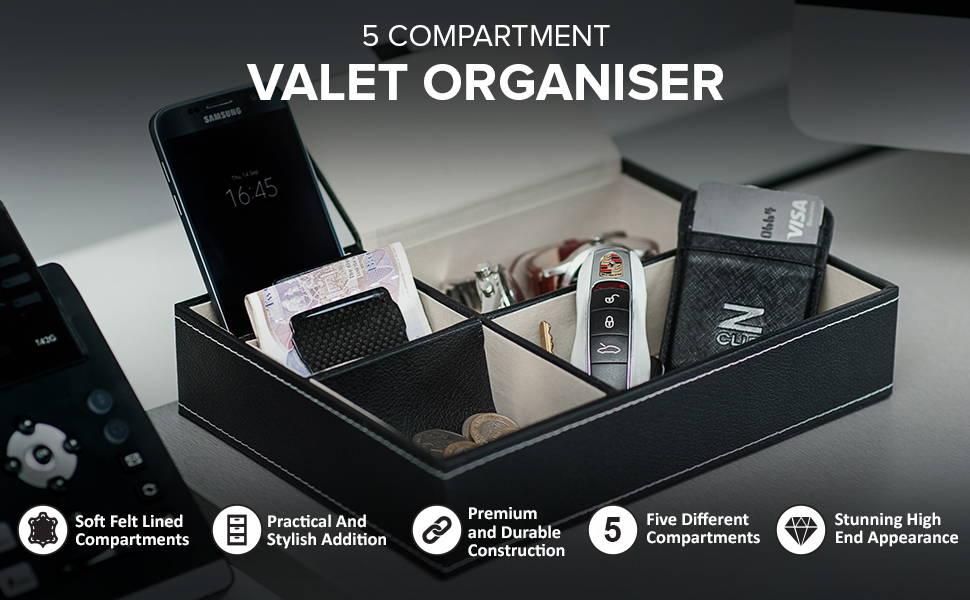 5 Compartment Valet Organiser