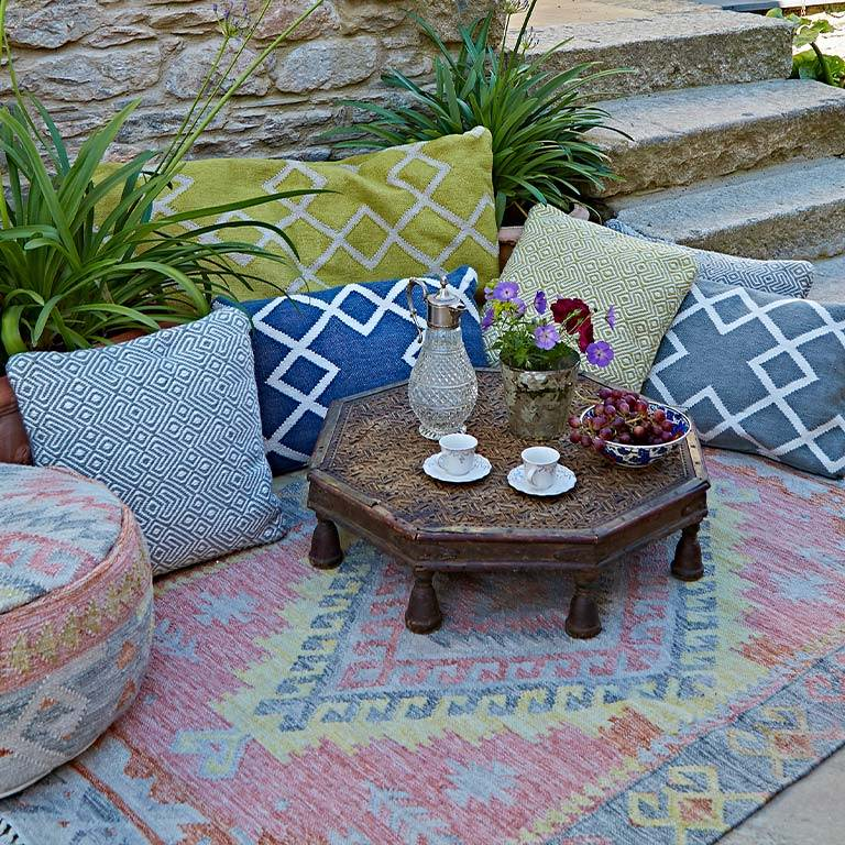nomad tarifa outdoor boho rug