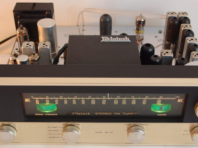 GORGEOUS MCINTOSH  MR-65 STEREO TUBE TUNER w/ MPX SECTION INSTALLED