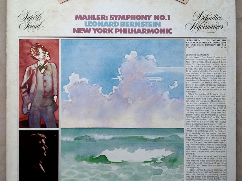 COLUMBIA   BERNSTEIN/MAHLER - Symphony No. 1 / VG+