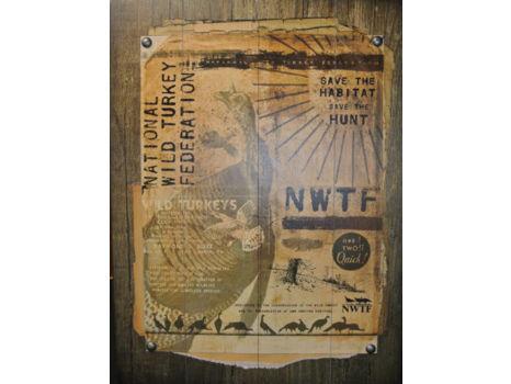 NWTF Vintage Wood Sign