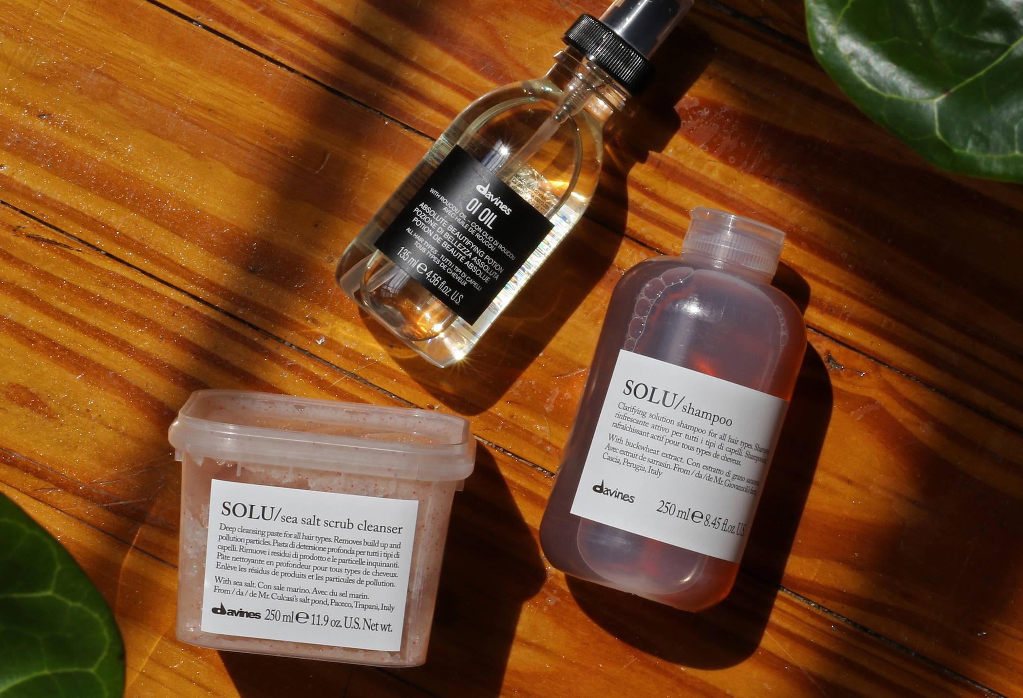 Clarifying shampoo and scrub Davines