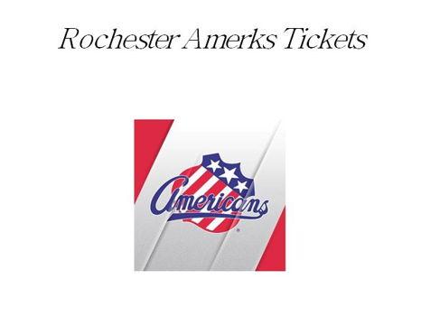 Amerks Tickets