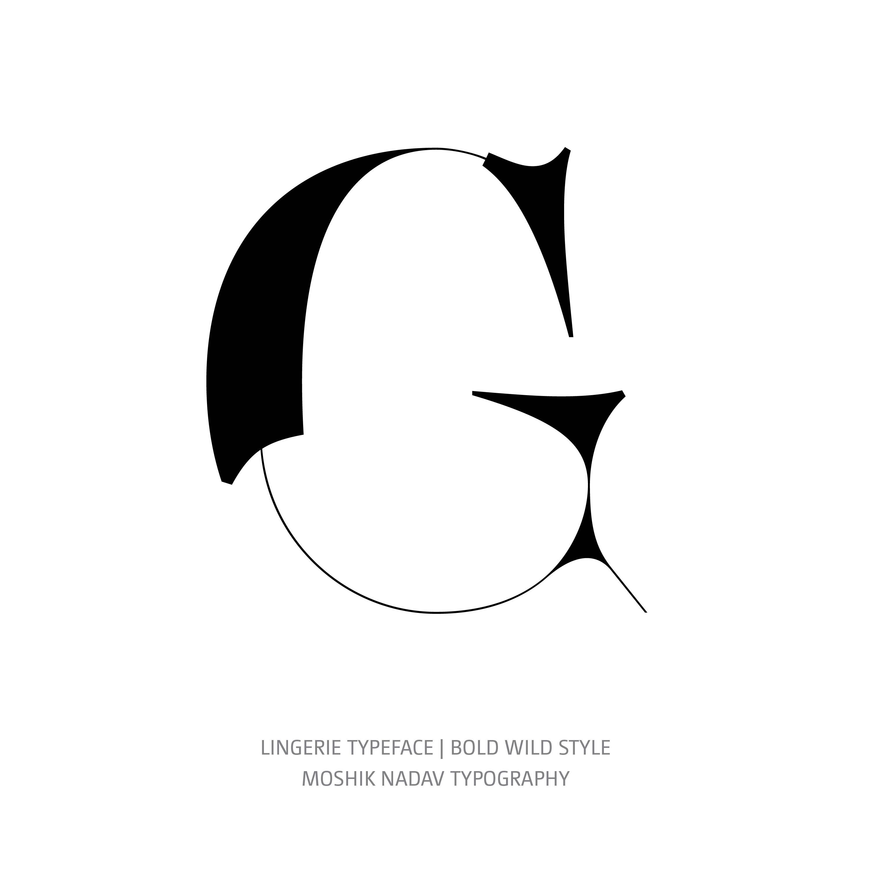Lingerie Typeface Bold Wild G