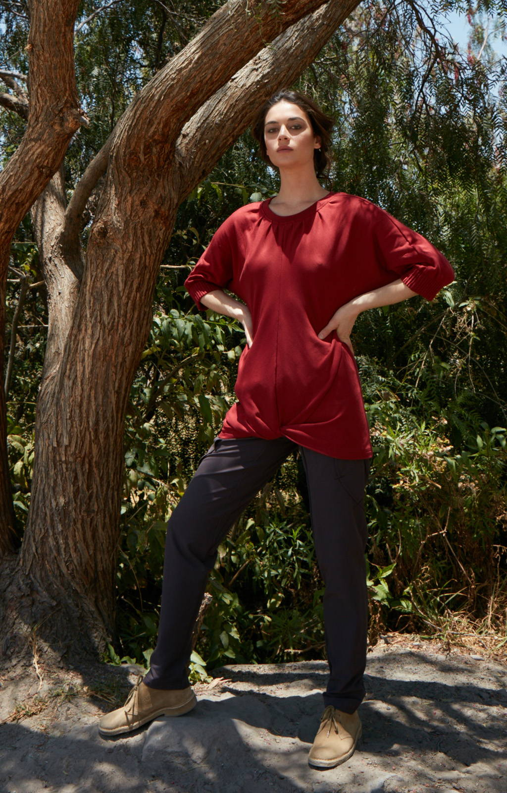 RESILIENCE - INDIA INSPIRED VOYAGER PANT SHALE