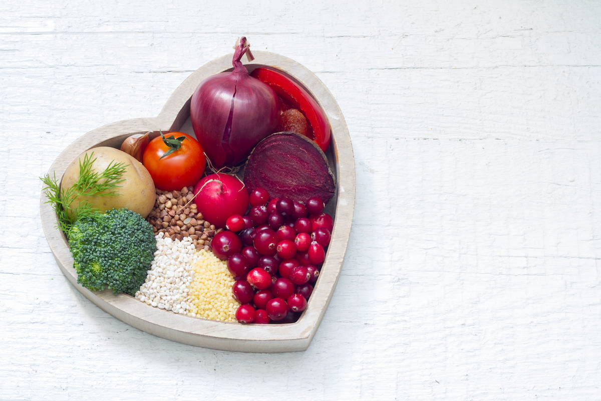 Fresh fruits and vegetables harvested seasonally.