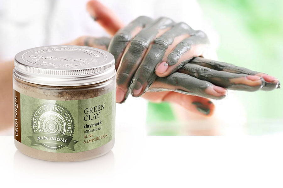 Green Clay Powder Face And Body Mask For Oil And Acne Skin from Organique cosmetics